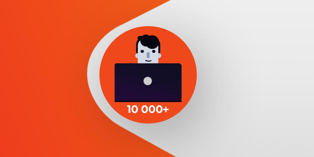 Több mint 10.000 aktív felhasználó